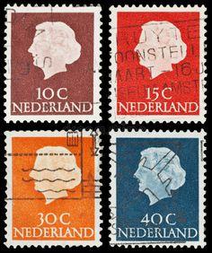 Dutch postage stamps. Set of 4 vintage Dutch postage stamps features portrait of , #ad, #vintage, #features, #portrait, #Set, #Dutch #ad