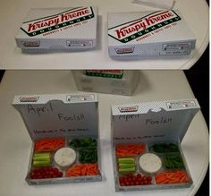 Get your kids out of bed with the promise of fresh and warm Krispy Kreme donuts.