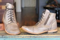 The Bonnie ladies boot from BedStu uses vegetable tanned full grain leather, lace up closure with duel side zippers, a triple stitched cap toe, and a Goodyear welted sole keeping the shoe ventilated, durable and strong.  Brown Rustic $194.95.  elosshoes.com