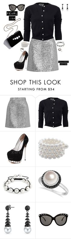 """Pearl Jam"" by philly-diva ❤ liked on Polyvore featuring Topshop, Boutique Moschino, Carolee, STELLA McCARTNEY, Bling Jewelry, Allurez, Italia Independent, women's clothing, women's fashion and women"