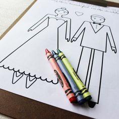 children wedding activity book