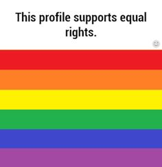 I support equality, pin if you feel the same