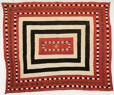 Chief's Blankets (c.1890). Tapestry weave. via tricia carlson on flickr   Navajo