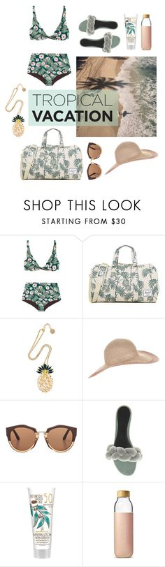 """""""Untitled #740"""" by babyou ❤ liked on Polyvore featuring Mara Hoffman, Herschel Supply Co., Anton Heunis, Accessorize, Marni, Marco de Vincenzo and Soma"""