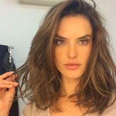 """Worth it,"" announced the Victoria's Secret Angel. We agree — she looks fantastic with a lob.              ..."