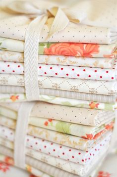 Bundle some fabrics for a lovely gift.  {Cream Bundle 22 from Fig Tree & Co.}