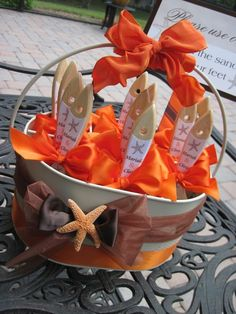 Wedding Beach Pail of Sand Brushes for Beach by iDoArtsyWeddings- neat idea for guests to brush the sand off their feet