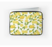 'Fresh lemons and leaves' Laptop Sleeve by MariArt-World