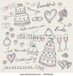 stock vector : Wedding doodle sketchy vector illustration