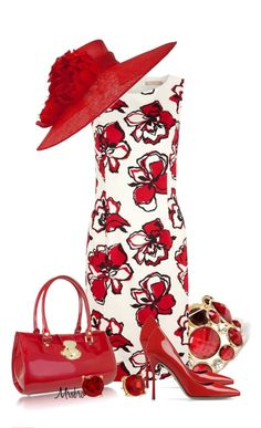 """""""Florals on Fire"""" by mrsbro ❤ liked on Polyvore"""