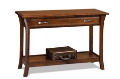 Ensenada Open Sofa Table with Drawer - Amish Furniture Factory