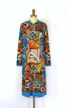 Fantastic vintage 60s Italian SAUL VILLA super-psychedelic midi, sold earlier this year to my private German customer.
