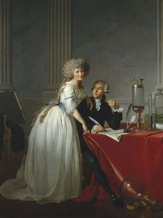Jacques-Louis David - Portrait d'Antoine Lavoisier et de sa femme (1788)