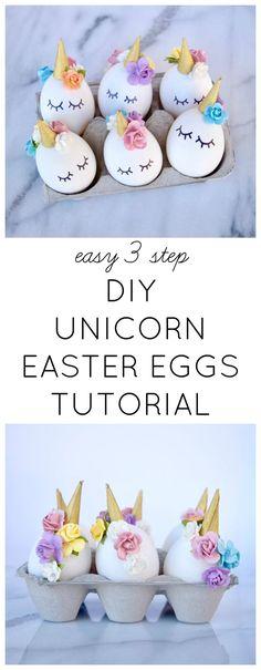 DIY Unicorn Easter Eggs Tutorial