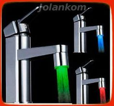 LED Water Faucet Stream Light 7 Colors Changing Glow Shower Tap Head Kitchen Pressure Sensor Bathroom Faucets Taps Accessory New Glow Water, Water Tap, Light Water, Light Led, Water Flow, Tap Head, Shower Taps, Bath Shower, Bucket Lists