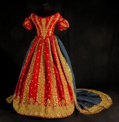 Court dress, Italy, ca. 1848. When you say royalty, this is what I think of.