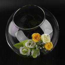 Qualité Transparent Boule De Verre Vase Multi Usage Fleur Hydroponique Vase Micro Paysage DIY Bouteille Chandelier Home Decor DIY chaude(China (Mainland))