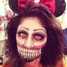 Evil Minnie Halloween makeup