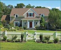 "Cellular Vinyl Nantucket Picket Fence - With a graceful appearance that dignifies a home's entranceway, our 3' Nantucket picket has 2"" x4"" aluminum reinforced mortised rails. The fence is centered by a concave top 3'walk gate with quality Walpole hardware."