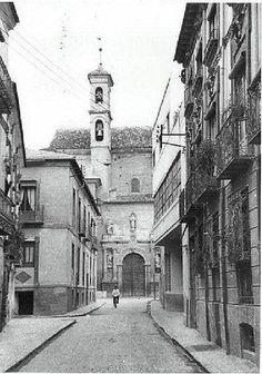 Iglesia de san Esteban. Calle creo que era llamada de la Compañía (de Jesús, imagino, por los jesuitas que ocuparon la iglesia y colegio convento anexo en su origen),
