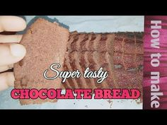CHOCOLATE BREAD recipie - YouTube Powdered Sugar, Cooking Recipes, Tasty, Bread, Chocolate, Baking, Youtube, How To Make, Food