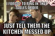 Guilty!.. Atleast when I was at Pizza Hut.