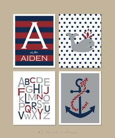 Childrens+Boys+Nautical+and+Alphabet+by+7WondersDesign+on+Etsy,+$20.00