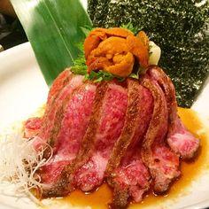 A4 miyazaki wagyu beef steak & sea urchin rice bowl with my love @luciacicia #girlsnightout #girlschattingtime #wagyubeef #uni #seaurchin #food #foodie #foodporn #foodgasm #foodlover #foodstagram #foodphotography #happytummy #happynight #vsco #vscocam #vscofood #japanese #ura #ukig #hkig #hk #sheungwan #2016 #spring #ukgang #mannaashhouse #piggingout #feast by kellyyymakkk
