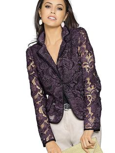 Blazers For Women, Work Fashion, Fashion Dresses, Style Inspiration, Clothes For Women, Lace, Casual, Womens Fashion, How To Wear