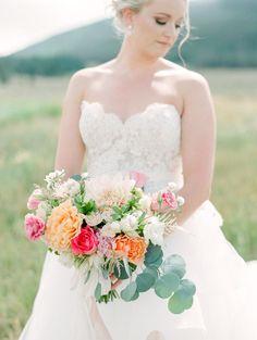 Wedding Bouquets :     Picture    Description  Pink + peach summer bouquet: www.stylemepretty…    - #Bouquets https://weddinglande.com/accessories/bouquets/wedding-bouquets-pink-peach-summer-bouquet-www-stylemepretty/