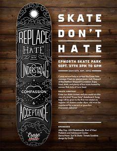 Erase Hate / Skate Deck on Behance