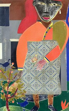 Romare Bearden  Woman in the garden, 1972  (He was the speaker and honorary degree recipient at the Maryland Institute College of Art when I formally received my MFA degree.
