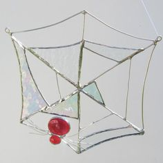 Red Spider In A Web Suncatcher - by Fivesparrows