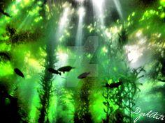 The Deep Kelp Forest by DzrkArts.deviantart.com on @DeviantArt