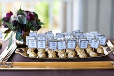 love this idea...maybe I can find Ferreros in silver!