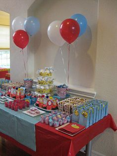 Dr Seuss Baby Shower Ideas | dr. seuss sweets table [first birthday party]