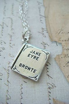 Literary Book Series - JANE EYRE by BRONTE - Sterling Silver Charm. $23.00, via Etsy.