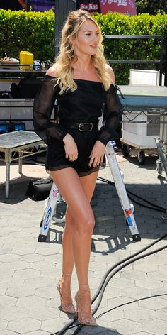 The Sexy Way To Wear A Romper, As Seen On Candice Swanepoel - WhoWhatWear.com