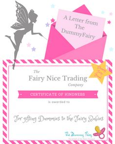Free printable Dummy Fairy letter and certificate