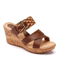 Love this Coffee & Natural Izabel Wedge Sandal by b.o.c on #zulily! #zulilyfinds