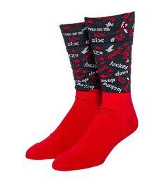 brand new 0fc3a 41046 NEW Men s Nike Air Jordan 6 Low Socks Red Black 707548-687 Size Large