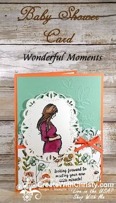 Free Tutorial Included in the Blog Post - Stampin' Up! Wonderful Moments handmade baby shower card - Create With Christy - Christy Fulk, Independent SU! Demo