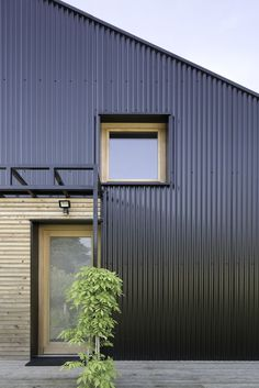 Move Over, Tiny Houses — This Low-Cost Home Could Be the Next Big Trend - my home - House Cladding, Metal Cladding, Metal Siding, Exterior Cladding, House Siding, Black Cladding, Metal Facade, Affordable House Plans, Affordable Housing