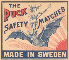 Cubierta sueca para caja de cerillas.