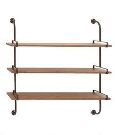 Wood and Metal Decorative Shelf $199.95