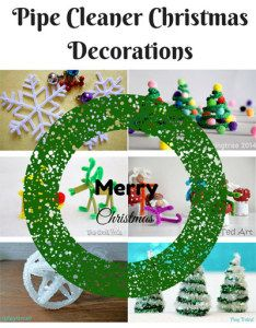 Pipe Cleaner Christmas Decorations RoundUp