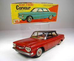 Corvair friction powered tin toy car