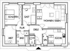 ber ideen zu grundriss bungalow auf pinterest. Black Bedroom Furniture Sets. Home Design Ideas