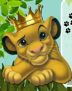 The lion is the king of the jungle. Lion King Party, Lion King Birthday, Jungle Theme Birthday, Cartoon Jungle Animals, Baby Cartoon, Cute Disney Drawings, Cute Drawings, Simba Rey Leon, Lion King Funny