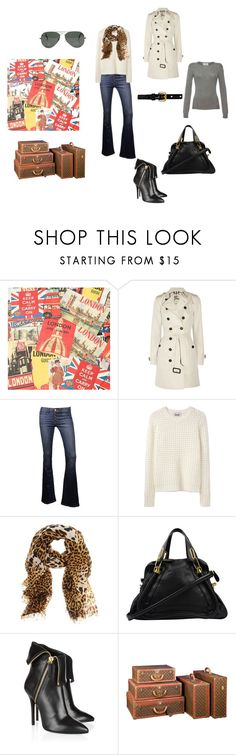 """""""50 Shades--Ana's closet in my eyes.."""" by stacy-williams-white ❤ liked on Polyvore featuring Cavallini, Burberry, Acne Studios, Ray-Ban, Yves Saint Laurent, Chloé, Giuseppe Zanotti, Louis Vuitton and Prada"""